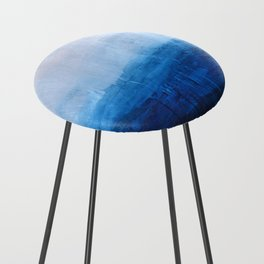 All good things are wild and free - Ocean Ombre Painting Counter Stool