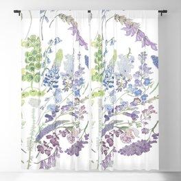 Rainbow Floral Blackout Curtain