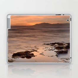 """Last red light"" Sunset at the sea Laptop & iPad Skin"