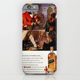 Vintage 1951 Johnnie Walker Alcohol - Whiskey Advertisement Poster iPhone Case