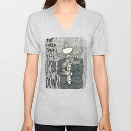 United States of the Upside Down Unisex V-Neck