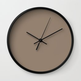 Baby Blue Ocean ~ Sandy Brown Coordinating Solid Wall Clock