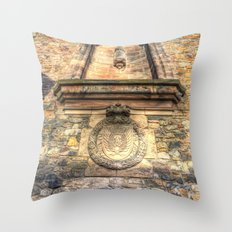 Edinburgh Castle Royal Airforce Throw Pillow
