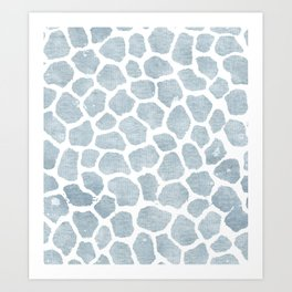 Chambray denim giraffe camo Art Print