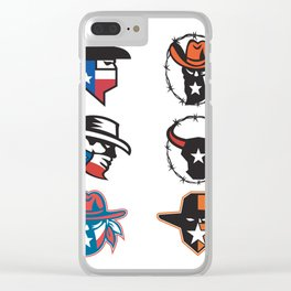 Texas Outlaw Mascot Collection Clear iPhone Case