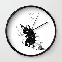 camping Wall Clocks featuring Camping by Freeminds
