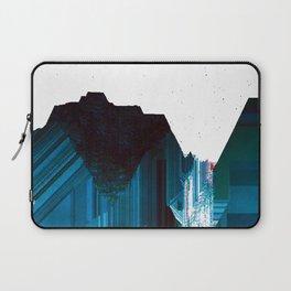 Glitch Valley Blue Laptop Sleeve