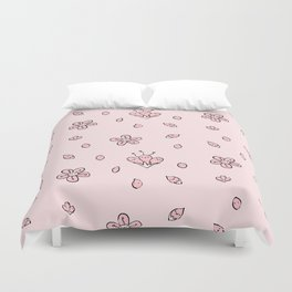 Sweet Sakura Smiles - Springtime - Blushing Pink Duvet Cover