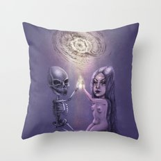 Cosmic reflection Throw Pillow