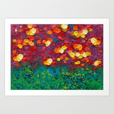 Rainbow Bubbles teardrop rain abstract painting iPhone 4 4s 5 5c 6 7, pillow case, mugs and tshirt Art Print