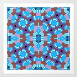 blue sleep Art Print