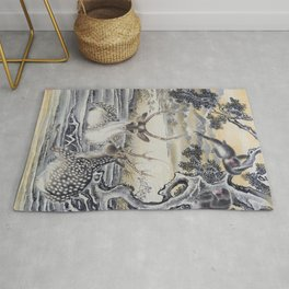 Deer And Monkeys - Digital Remastered Edition Rug
