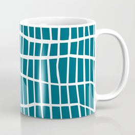 Net White on Blue Coffee Mug
