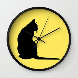 Cat's silhouette Wall Clock