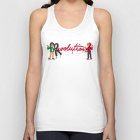 grantaire Tank Tops featuring Revolution With A Captial R by juanjoltaire