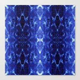Ikat Shibori Blues Canvas Print