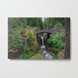 Christine Falls - Mount Rainier NP Metal Print