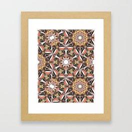 Arabesque doodle Framed Art Print