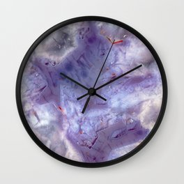 purple agate 0743 Wall Clock