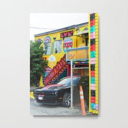 376. Colorful Street Art House, Vancouver, Canada Metal Print