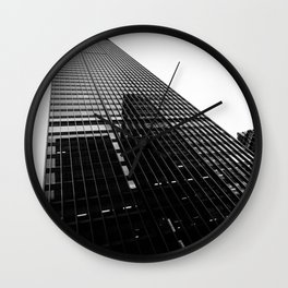 Reflections Of The City Sky Wall Clock