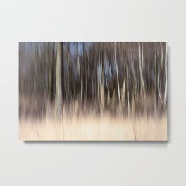Abstract forest; intentionally blurred by camera shake Metal Print