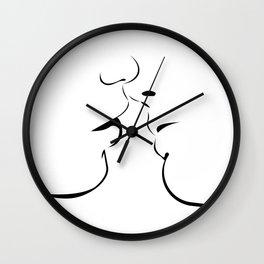 Kiss Love! Wall Clock
