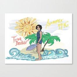 Lana Parrilla as Trina Decker (Swingtown) Canvas Print