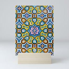 Persian Mosaic Tile Pattern Mini Art Print