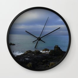 The Atlantic Ocean and Clouds in the Sky Wall Clock