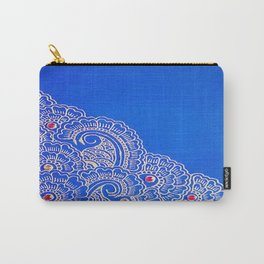 Blue & Red Carry-All Pouch