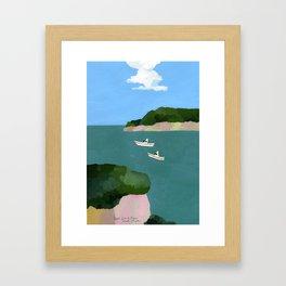 Peaceful sea Framed Art Print