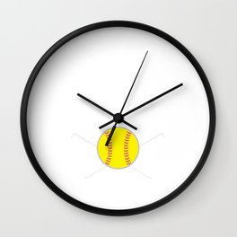 Softball was Invented to Show Boys How It's Done T-Shirt Wall Clock