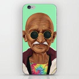 Hipstory -  mahatma gandhi iPhone Skin