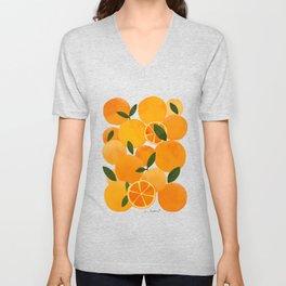 mediterranean oranges still life  Unisex V-Neck