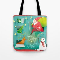 calendar Tote Bags featuring Christmas Calendar by Lorenzo Sabbatini