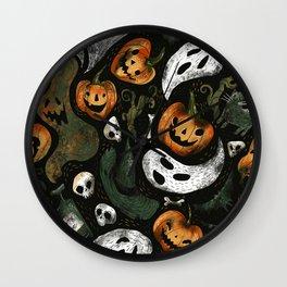 Vintage Halloween Wall Clock