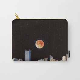 Blood Moon Over Pittsburgh Pennsylvania Skyline-Night Sky and Stars Carry-All Pouch