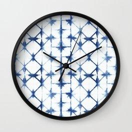 Shibori Diamonds Wall Clock