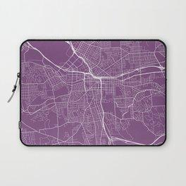 Syracuse Map, USA - Purple Laptop Sleeve