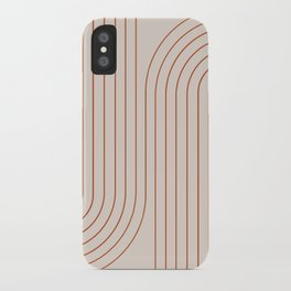 Minimal Line Curvature - Coral II iPhone Case