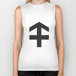 Always Move in a Positive Direction Biker Tank