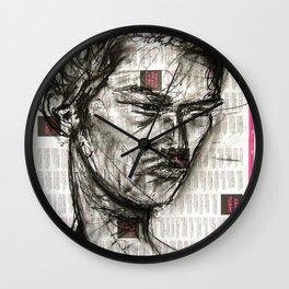 Warrior - Charcoal on Newspaper Figure Drawing Wall Clock