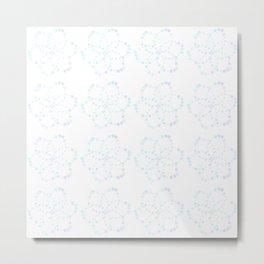 Blue Atomic Stars Metal Print