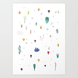 forest flare Art Print