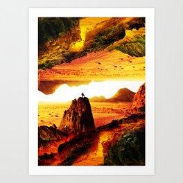 Lava Isolation Art Print