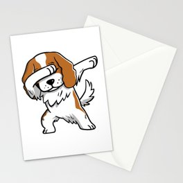 Funny Dabbing Cavalier King Charles Spaniel Dog Dab Dance Stationery Cards