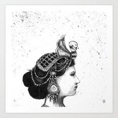 1920s Circus Queen Art Print