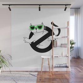 Cat Thug Buster | Digital Art Wall Mural
