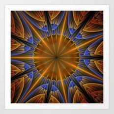 Autumn star Art Print